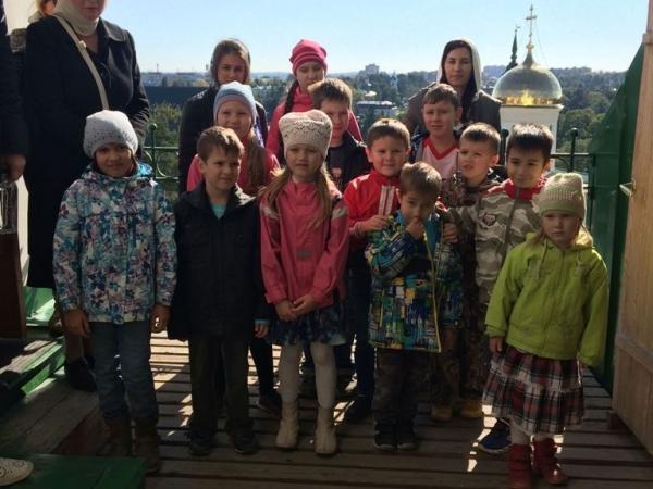 Воскресная школа в гостях у преподобного Сергия